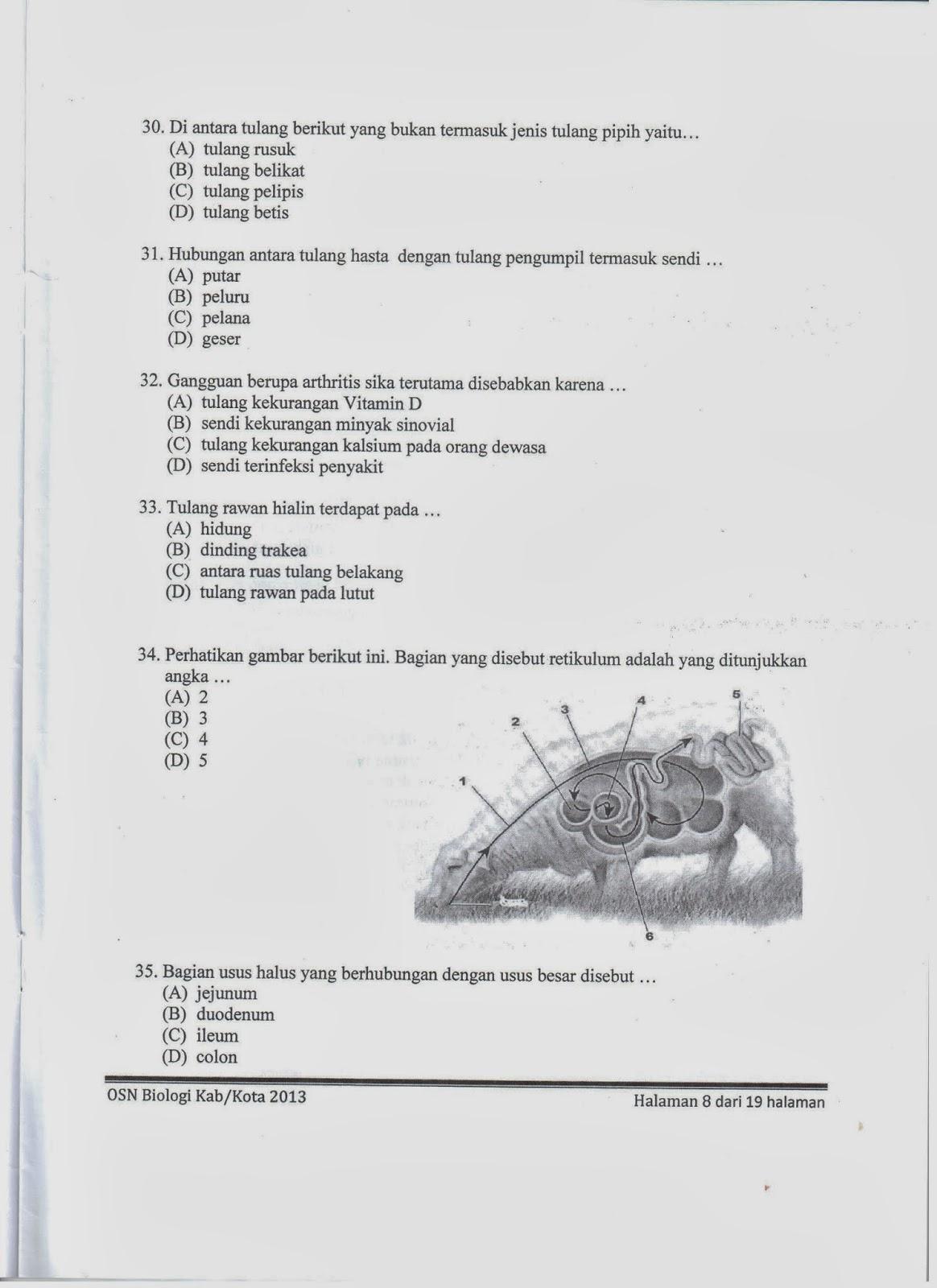 Rumah Kaca: Soal OSN Biologi SMP Tingkat Kabupaten/Kota