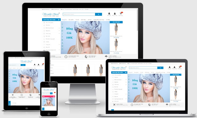 Templates blogspot bán hàng quần áo