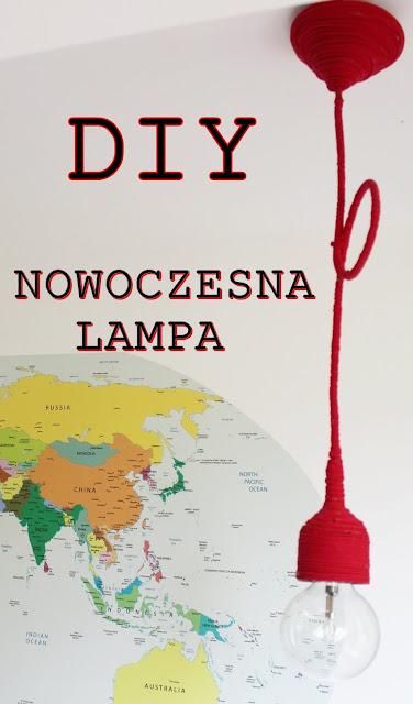 Czerwona lampa z recyklingu – elegancki, designerski element w pokoju dziecięcym