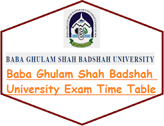 BGSBU Date Sheet 2019