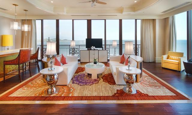 Phòng khách The Grand Hồ Tràm