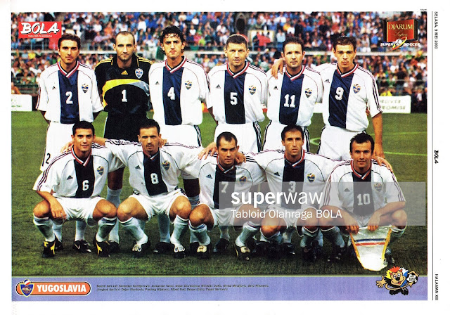YUGOSLAVIA TEAM SQUAD EURO 2000 SOCCER