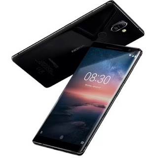Nokia 8 Sirocco (Black, 128 GB) (6 GB RAM)