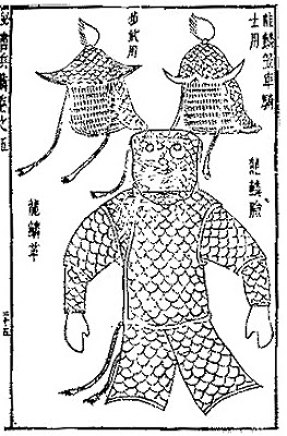 Ming Chinese full body leather scale armour