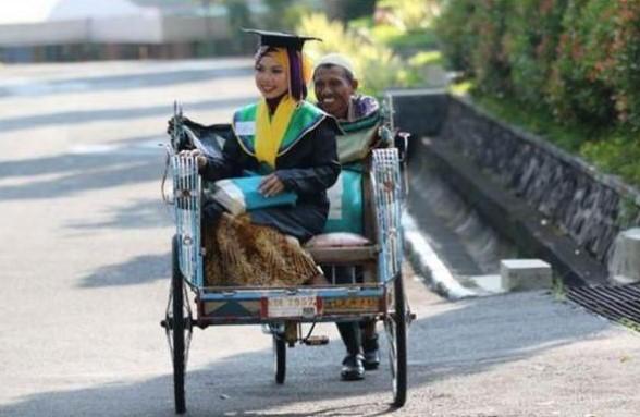 Masih Ingat Raeni, Anak Tukang Becak Lulusan Terbaik Unnes