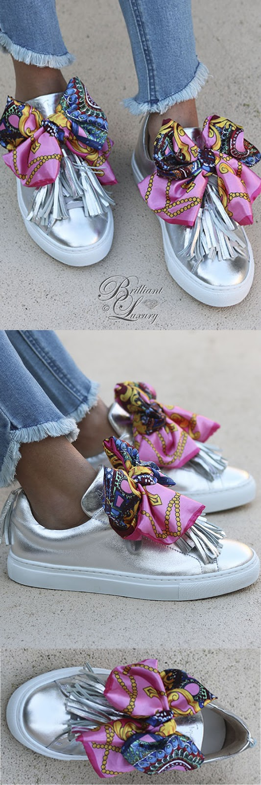 Brilliant Luxury ♦ Alameda Turquesa The Silver bow sneakers