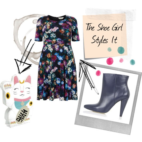 Polyvore outfit set styled by The Shoe Girl containing Topshop Hatter ankle boots