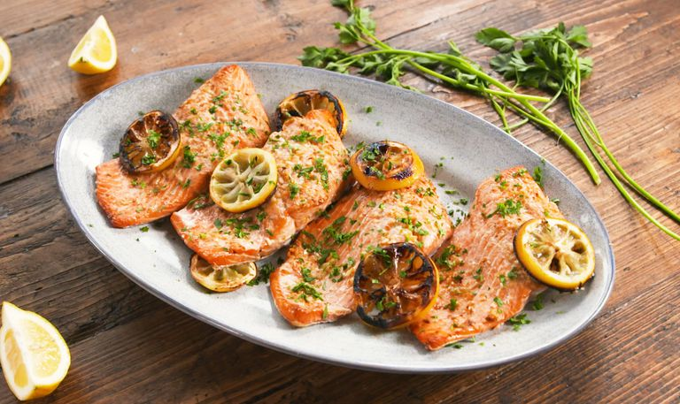 Grilled Lemon Butter Salmon