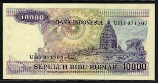 10000 rupiah Gamelan 1979 Belakang