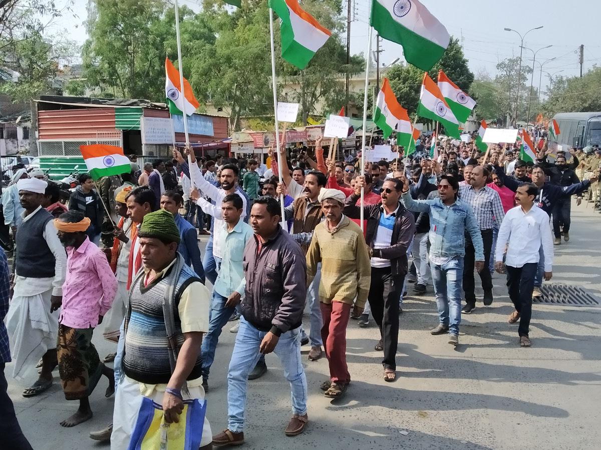 Jhabua News-नागरिकता संशोधन अधिनियम के समर्थन में निकली ऐतिहासिक रैली