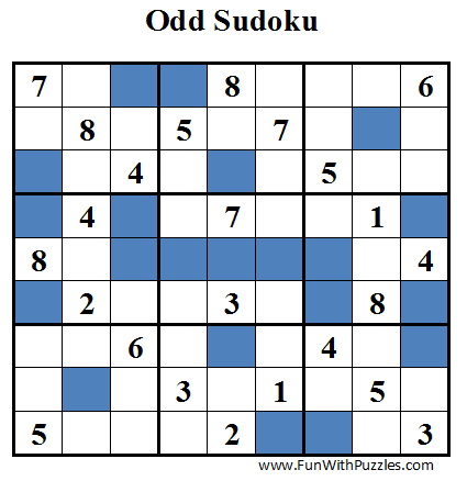 Odd Sudoku (Daily Sudoku League #31)