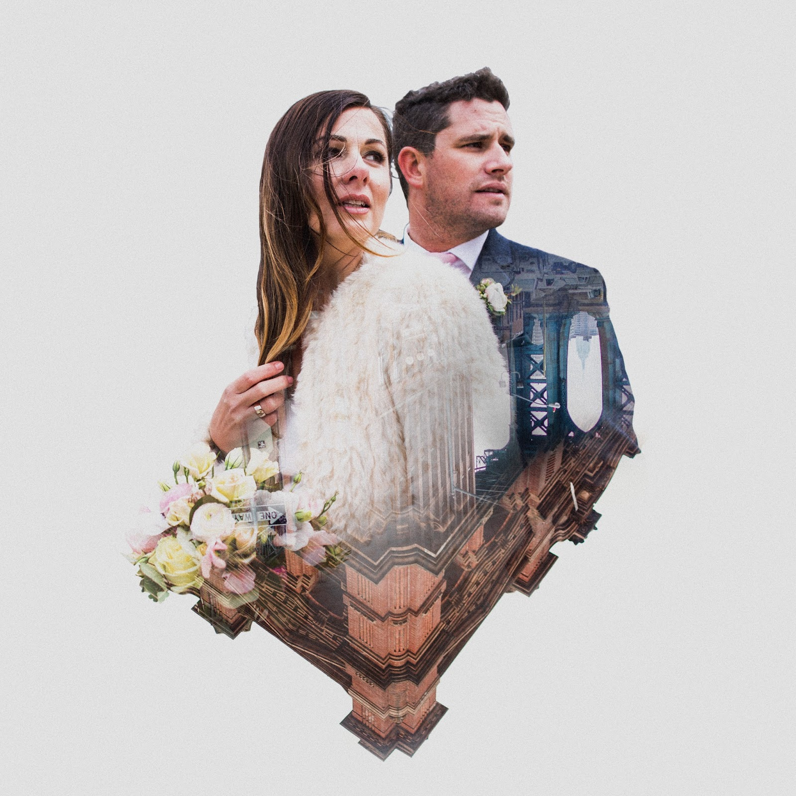 Double exposure wedding portrait | NYC Documentary wedding photography by Cassie Castellaw