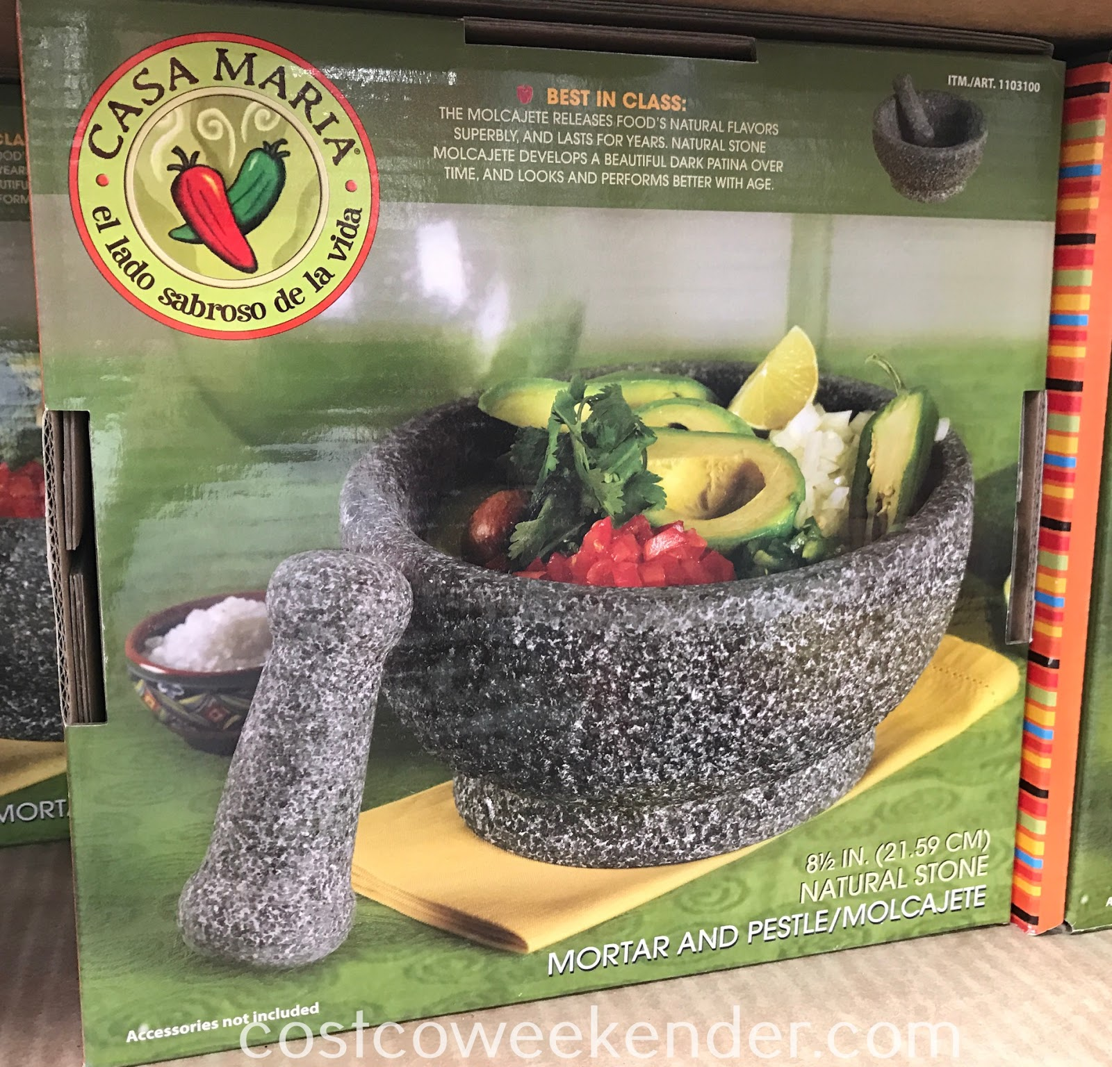 Make great guacamole for your next party with the Casa Maria Mortar & Pestle