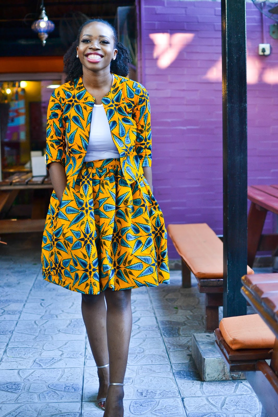 African Fashion Blogger with Amazing Smile