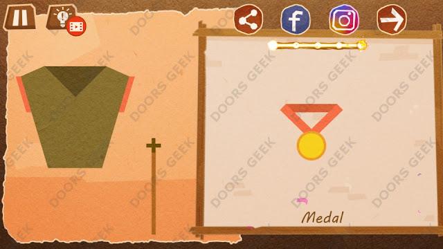 Chigiri: Paper Puzzle Novice Level 16 (Medal) Solution, Walkthrough, Cheats