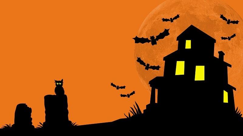 Expressvpn s halloween giveaway mommy katie - Cartoon haunted house pics ...