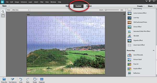 guided edit photoshop elements 12