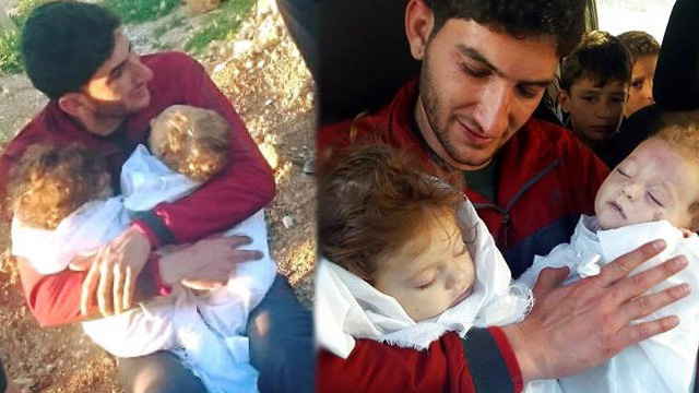 Father Bids Farewell to Twin Babies after Attack in Syria