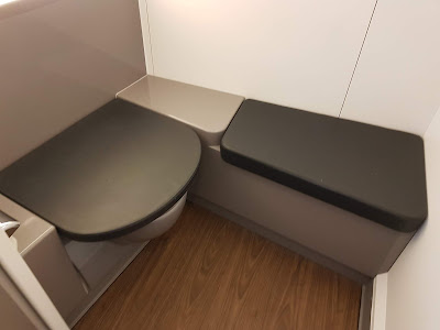 Cuarto de baño de la clase business de British Airways