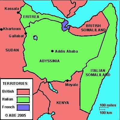 Somalia Middle East Map