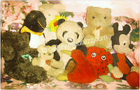 Cute animal stuffed, tedy bears, panda, mickey mouse, rabbit, kiwi, pingin, strawberry