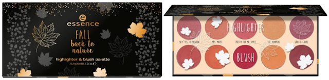 Highlighter & blush palette - Fall back to nature