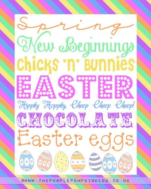Easter Subway Art Poster | Free Printable!