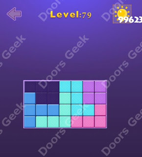 Cheats, Solutions, Walkthrough for Move Blocks Easy Level 79