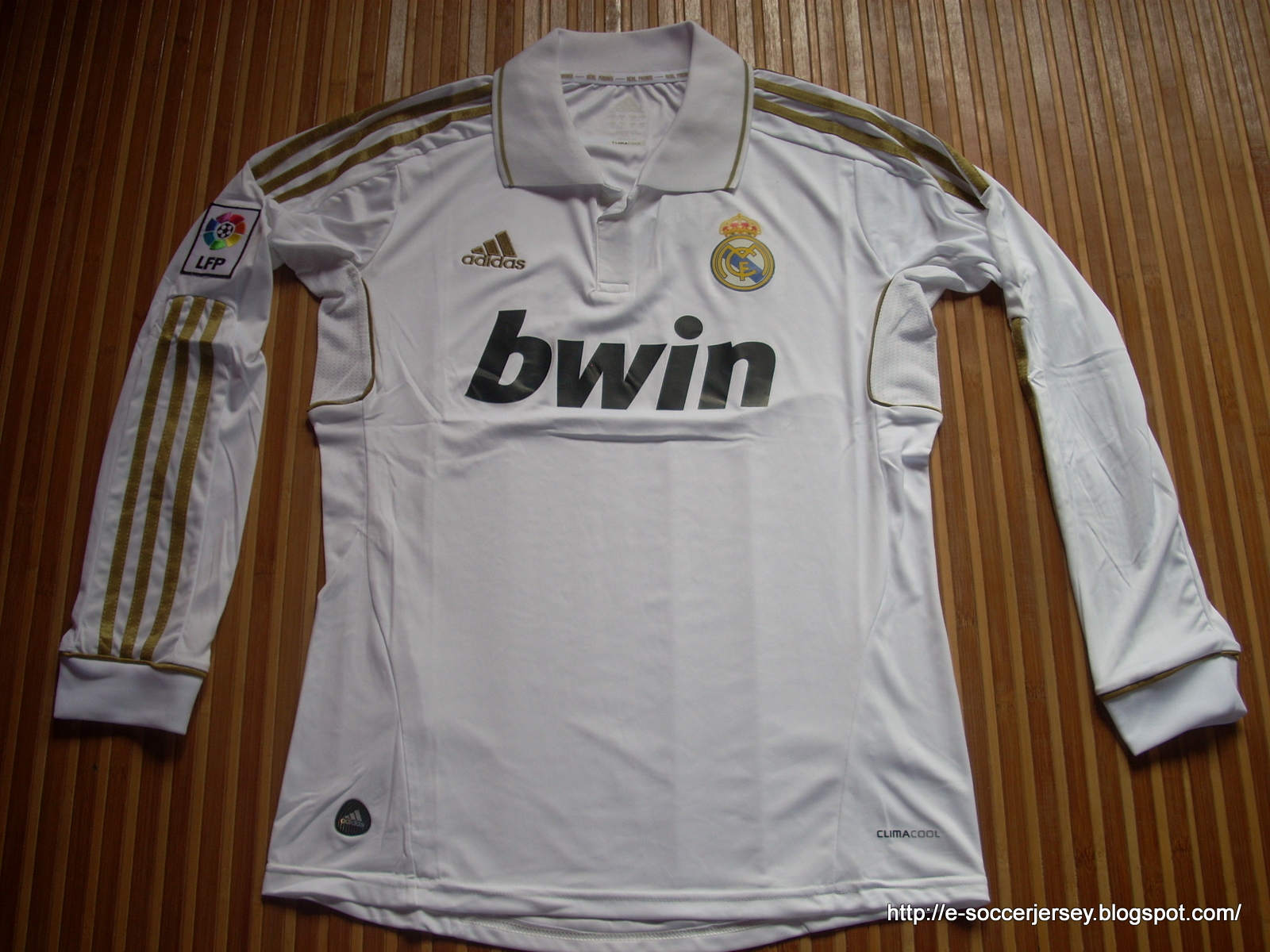 REAL MADRID HOME LONG SLEEVE 2011 2012  042d4882c