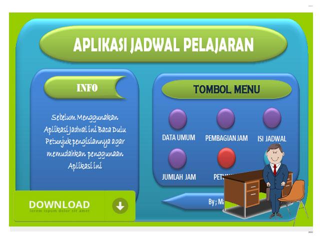 Aplikasi Jadwal Pelajaran Excel Terbaru SD, SMP, SMA