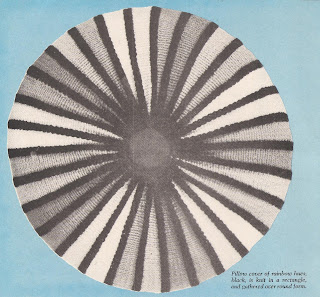 Stripe Crochet Round Pillow Pattern, Vintage 1950