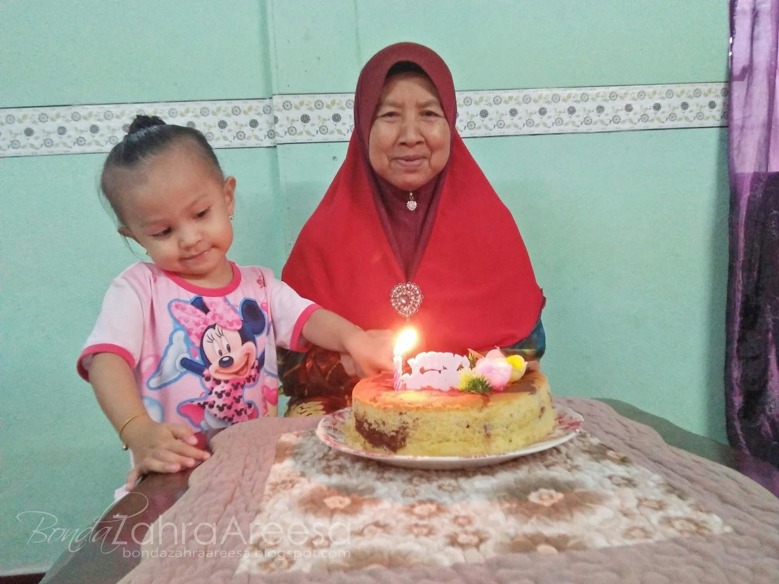 Sambutan sederhana hari lahir mak