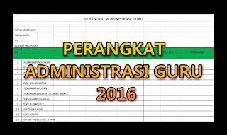 Aplikasi dan file kelengkapan Administrasi kelas dan guru 2016