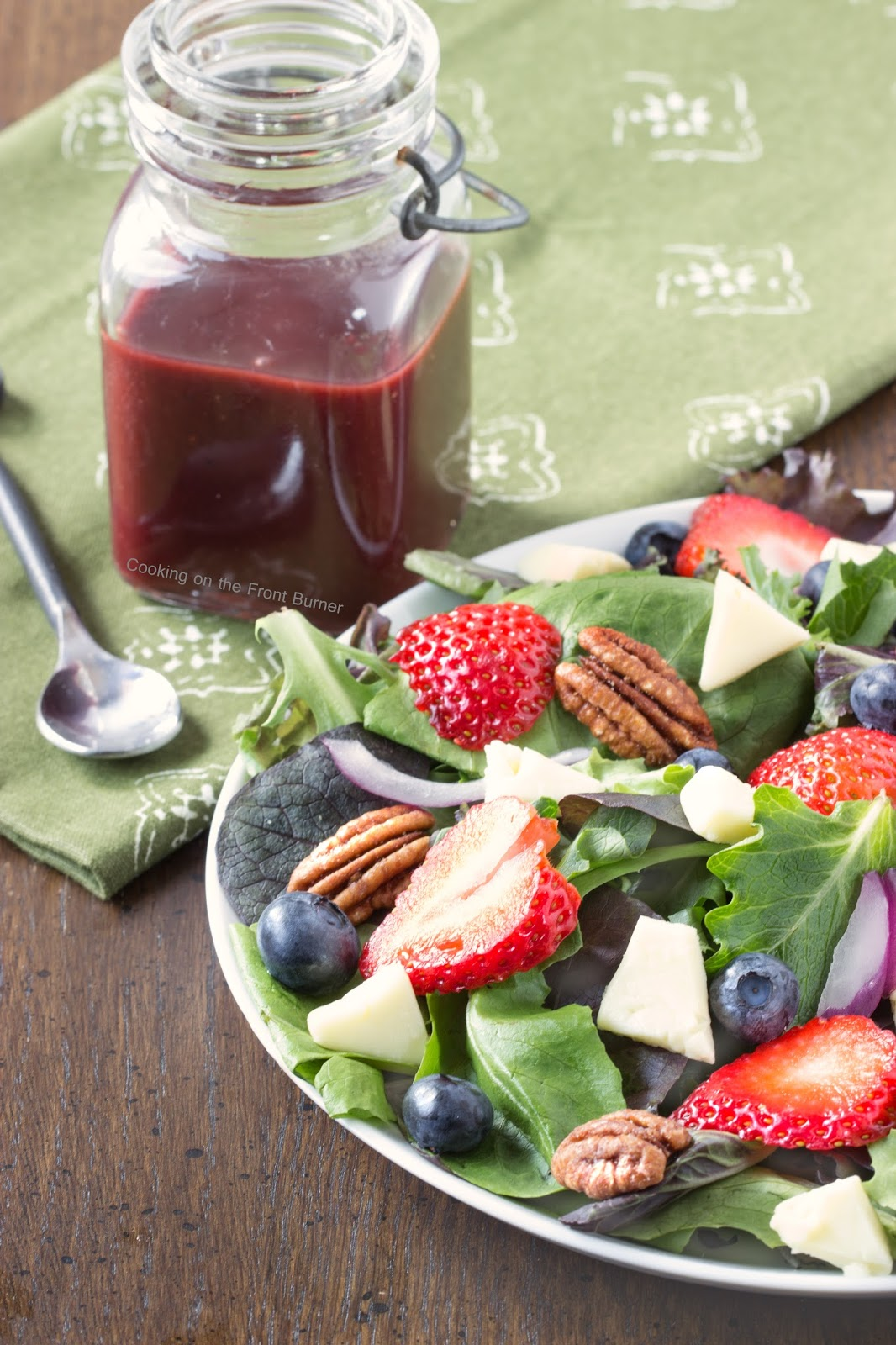 Berry Brie Salad with Blackberry Vinaigrette | Cooking on the Front Burner #sidedish