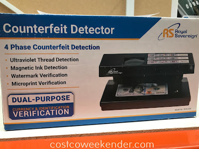 Ensure your cash isn't fake with the Royal Sovereign Counterfeit Detector