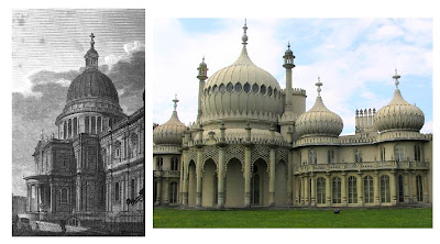 St. Paul's from D Hughson's London (1806) and Brighton Pavilion