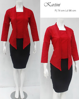 Baju Blouse Batik Kartini Merah