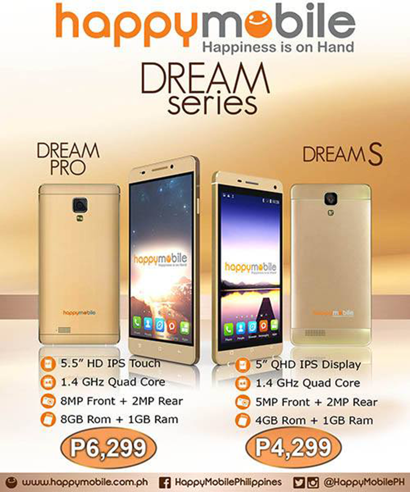 HAPPY MOBILE DREAM PRO AND DREAM S ANNOUNCED!