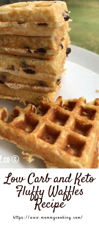 Low Carb and Keto Fluffy Waffles Recipe #healthy #wafflesrecipe