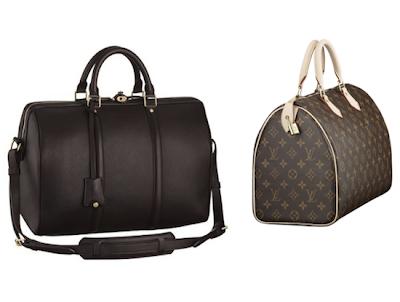 Louis Vuitton Sofia Coppola Bag, and side view of Speedy
