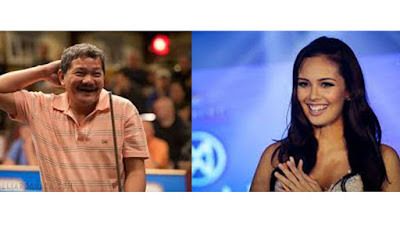 Efren 'Bata' Reyes and Megan Young