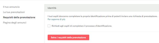 Requisiti della prenotazione documento