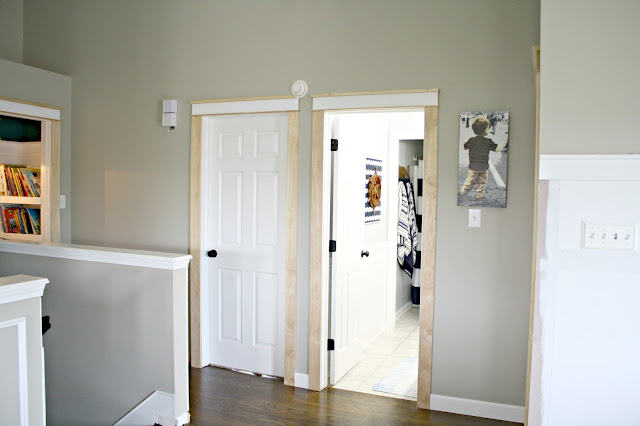 farmhouse trim on doors