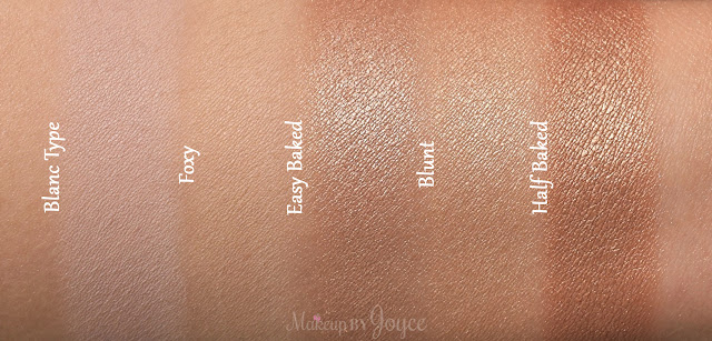 MAC Blanc Type Urban Decay Foxy Eyeshadow Dupe Swatches