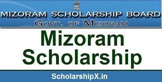 Mizoram Scholarship 2017-18