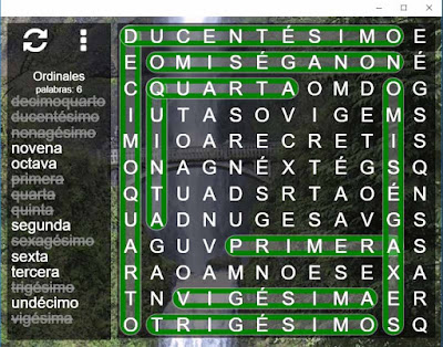 juego sopa de letras en español