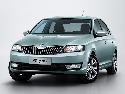 New Skoda Rapid Facelift front look