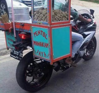 model gerobak cilok terbaru
