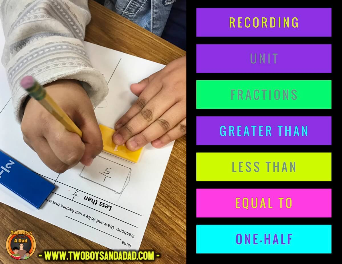 compare fractions to one half