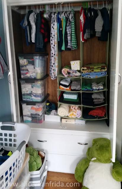 baby's first bedroom, closet, children, kid, child's closet, baby clothes organization, baby clothes storage, baby boy